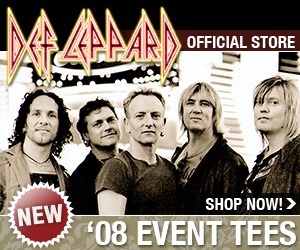 Def Leppard NEW '08 Event Tees