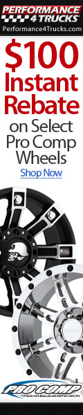 Up to $100 Instant Rebate on Pro Comp Wheels