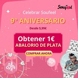 Celebrar 9 � Aniversario de Soufeel! Desde 5,99�. Obtener 1� Abalorio de Plata