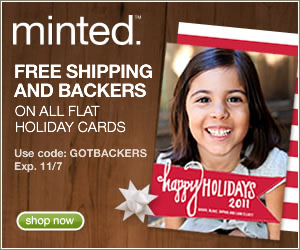Free shipping & backers on all flat holiday cards