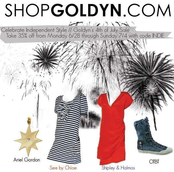 Get 35% off at ShopGoldyn.com's 4th of July Sale