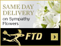 Same Day Delivery on Sympathy Flowers 120 x 90