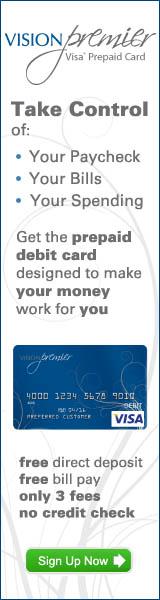 Vision Premier Prepaid Visa Debit Card