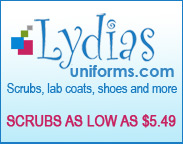 Shop Scrubs as Low as $5.49 at Lydia's Uniforms.