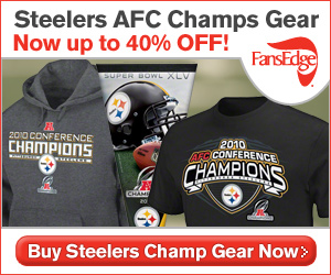 Steelers AFC Champs gear up to 40% off