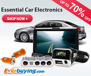Safe and Fun Ride! Up to 70% OFF for Essential Car Electronics at everbuying.com!