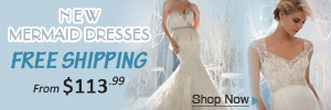 Mermaid wedding dress free shipping