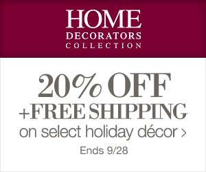 20% Off select D?cor including Halloween and Harvest at Home Decorators Collection.