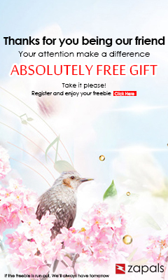Register and get free gift at Zapals.