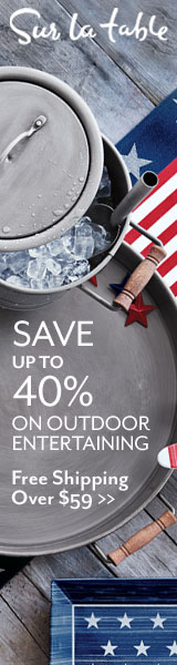 Sur La Table Up to 40% Off Outdoor Entertaining_160x600