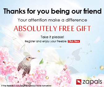 Register and get your free gift at Zapals.