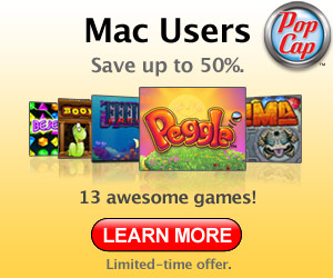 New Mac games from PopCap.com