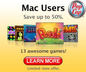 New Mac games from PopCap.com