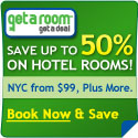 Save up to 50% on hotel rooms!
