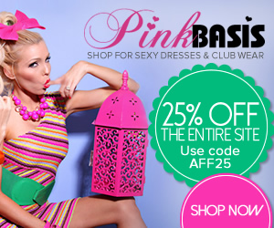 Get 25% Off the entire site at PinkBasis.com! Use code AFF25. Shop for sexy dresses & club wear now!