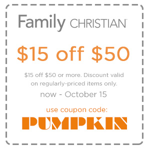 $15 off $50 or more with coupon code PUMPKIN