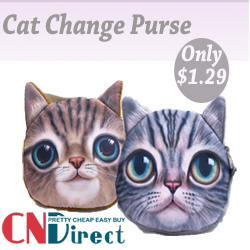 Only $1.29, Up to 40% off for Cat Change Purse