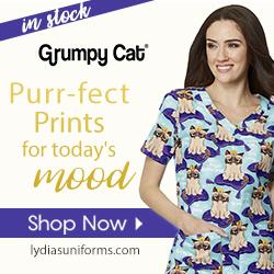 Grumpy Cat Scrubs Now @Lydia's