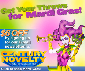 Shop Mardi Gras party supplies at Century Novelty