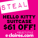 STEAL of the Week: HK Luggage @ Claire's