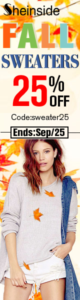 Save 25% off on Fall Sweaters at SheInside.com!  Enter code SWEATER25 at checkout through 9/25.