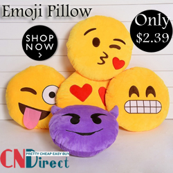 Only$2.39, Up to 20% off for Emoji Pillow!