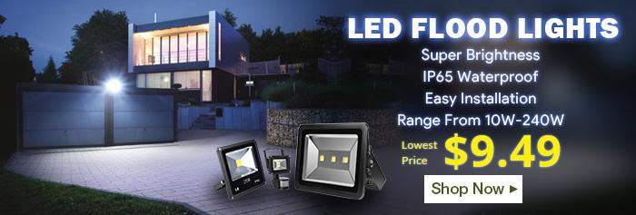 Lowest Price $9.49 - LED Flood Lights