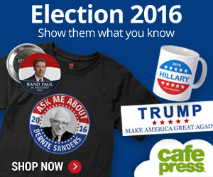 Election 2016 Gear at CafePress