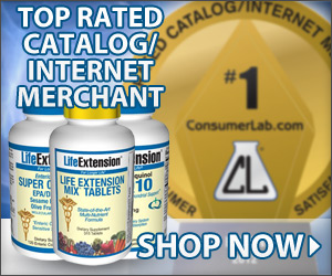 ConsumerLab 2012 Top Rated Internet Merchant: Life Extension