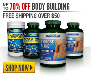 70% Off 300x250 Body Building Banner