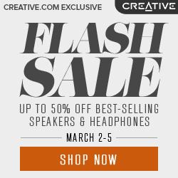 Deals on Creative Flash Sale: Up to 50% Off Headphones & Speakers