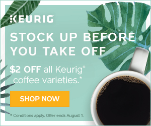$2 OFF all Keurig Coffee Varieties at Keurig.ca! (no coupon required, ends 8/1)
