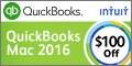 Quickbooks for MAC 2016 Software - Enjoy $100 off! Save Time & Get Organized!