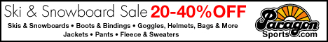 20-40% Off Ski & Snowboard Sale at Paragon Sports