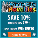 10% Off Holiday Party Supplies and Decorations with $79 Spend at Windy City Novelties Ends Feb 29