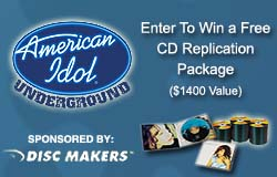 Idol Underground CD Replication Sweepstakes