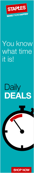 Staples Daily Deals - great products, great prices.  Hot, limited time offers available at Staples.c
