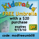 Free Kidorbale Umbrella with purchase