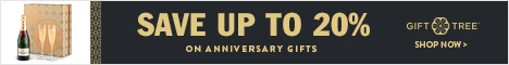 Save Up to 20% on Anniversary Gifts