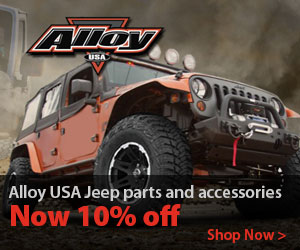 Alloy performance axle products and Jeep replacement parts now 10% off.