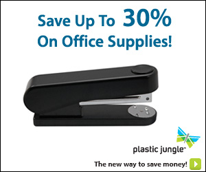 Save up to 30% on Office Supplies - PlasticJungle