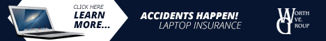 Laptop insurance - because accidents happen!