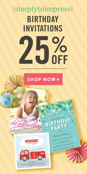 Save 25% on Birthday Invitations