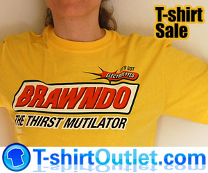 Brawndo and other Idiocracy T-shirts
