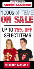 Live Nation Store: Up to 75% Off in the Sale Dept!