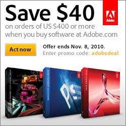 Adobe 7-day special on software purchase of $400 or more