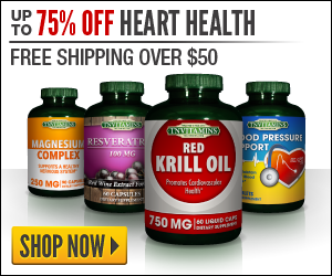 75% Off 300x250 Heart Health Banner