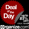 Check Today's DEAL OF THE DAY at Organize.com