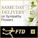 Same Day Delivery on Sympathy and flowers. 125 x 125