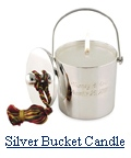 Silver Bucket Tassel Candle